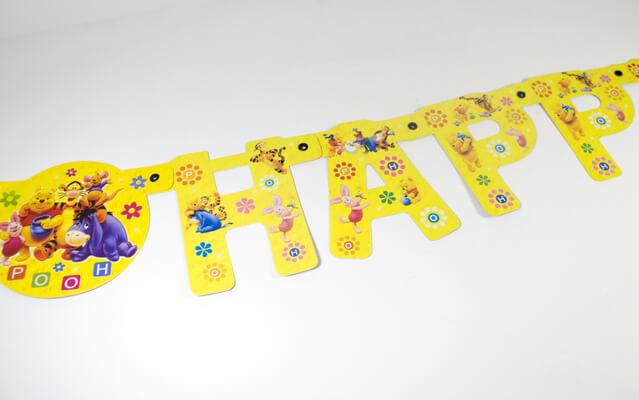 Happy Birthday Banner Pooh
