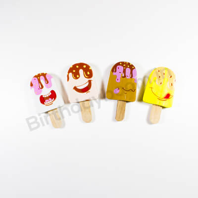 Ice Cream Shape Erasers